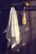 Bathroom Towel Print by Christopher and Amanda Elwell