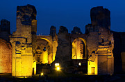Ancient Architecture Framed Prints - Baths of Caracalla Framed Print by Fabrizio Troiani