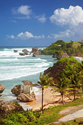 Atlantic Beaches Prints - Bathsheba Beach Print by Brian Jannsen