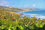 Greater Antilles Posters - Bathsheba Beach in Barbados Poster by Verena Matthew