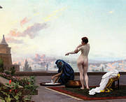 Bathing Paintings - Bathsheba by Jean-Leon Gerome