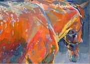 Thoroughbred Paintings - Bathtime  by Kimberly Santini