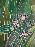Batik Prints - Batik Detail - Pushkinia Print by Anna Lisa Yoder