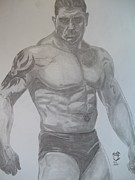 Ufc Drawings - Batista by Justin Moore