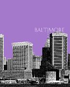 Batlimore Skyline Print by DB Artist