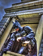Super Hero Metal Prints - Batman - Dark Knight - City of Fear Metal Print by Lee Dos Santos