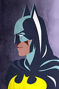 Animation Posters - Batman 2 Poster by Mark Ashkenazi