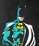 Kids Room Art Metal Prints - Batman 4 Metal Print by Mark Ashkenazi