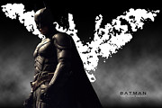 Bale Digital Art Metal Prints - Batman #5 Metal Print by Christian Colman
