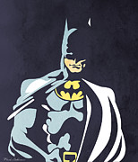 Caricature Digital Art Posters - Batman 5  Poster by Mark Ashkenazi