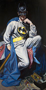 Batman Painting Originals - Batman after Velqasquez by Jake Johnson