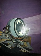 Dc Comics Paintings - Batman Beam by Brenda Brown