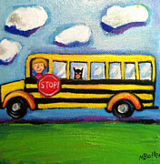 Batman Painting Originals - Batman Bus Ride by Melissa Bollen
