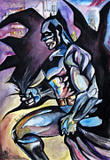 Dc Comics Drawings - Batman Color Puke Explosion by Lambert Aaron