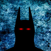Square Digital Art Posters - Batman - Dark Knight Number 1 Poster by Bob Orsillo