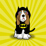 Caricature Posters - Batman Dog Poster by Mark Ashkenazi