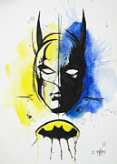 Comics Paintings - Batman by Erik Pinto