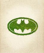 Batman Grass Logo Print by Aged Pixel