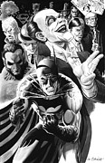 Comics Paintings - Batman Hush Theme by Ken Branch