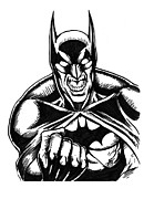 Batman Drawings - Batman by John Ashton Golden