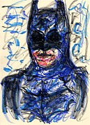 Christian Drawings Framed Prints - Batman Framed Print by Rachel Scott