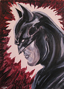 Heroes Paintings - Batman by Rebecca Scott