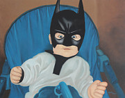 Becky Paintings - Batman rides again by Becky West