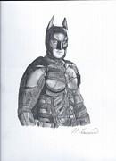 The Dark Knight Drawings - Batman The Dark Knight by Nicholas Fuciarelli