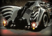 Crime Fighter Metal Prints - Batmobile 2 Metal Print by Cathy Smith