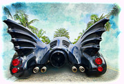 Bat Mobile Framed Prints - Batmoblie Framed Print by Norma Warden