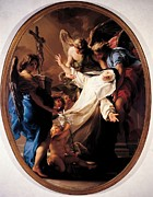 35-39 Years Posters - Batoni Pompeo Girolamo, Ecstasy Of St Poster by Everett