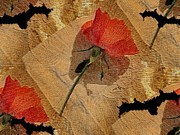 Bat Mixed Media - Bats and Roses by Pepita Selles