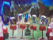 Xmas Painting Originals - Bats in the belfry choir by Judith Desrosiers