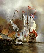 Battaglia Sul Mare Print by Guido Borelli