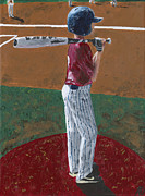League Painting Prints - Batter Up Print by Adam Dowling
