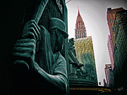 Chrysler Building Digital Art Metal Prints - Batter Up Metal Print by Nishanth Gopinathan