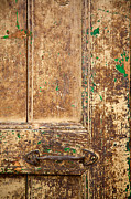 Old Doors Framed Prints - Battered Door Framed Print by Peter Tellone