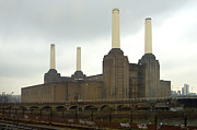 Railroad Tracks Framed Prints - Battersea Power Station - London Framed Print by Mike McGlothlen