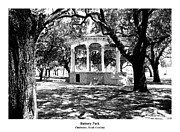 Stippling Framed Prints - BATTERY PARK - Architectural Renderings Framed Print by Andrew Wells