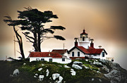 Just Right Art - Battery Point Light House Crescent City CA by James Heckt