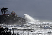 Winter Storm Photos - Battery Point Storm by Betty Depee