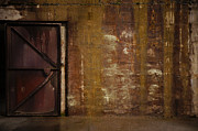 Brown Tones Photos - Battery Walls Metal Door by Ronda Broatch