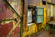 Brown Tones Photos - Battery Walls Metal Doors by Ronda Broatch