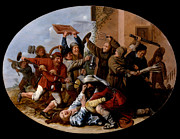 Famous Artists - Battle Between Carnival and Lent by Jan Miense Molenaer
