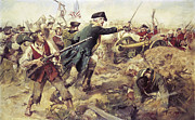 Patriotic Painting Posters - Battle of Bennington Poster by Frederick Coffay Yohn