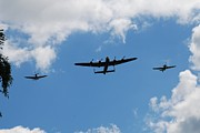 Bomber Escort Photo Framed Prints - Battle of Britain Memorial Flight Framed Print by David Fowler