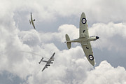 Spitfire Acrylic Prints - Battle of Britain - One Down Acrylic Print by Pat Speirs