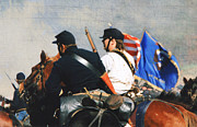Battle Of Franklin - 2 Print by Kae Cheatham