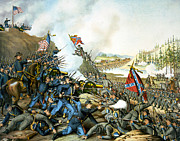 Franklin Digital Art Metal Prints - Battle of Franklin Metal Print by Unknown