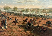 Gettysburg Painting Framed Prints - Battle of Gettysburg Framed Print by Pg Reproductions